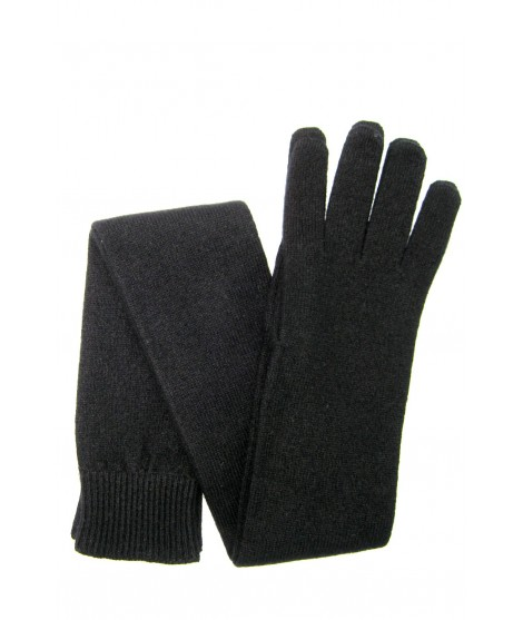 Guanto in 100% cashmere 16bt Nero Sermoneta Gloves Guanti in