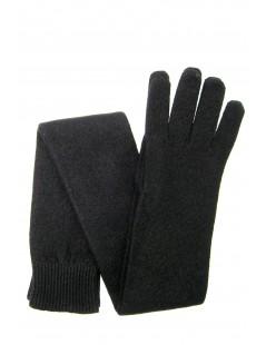 100%cashmere gloves 16bt Black Sermoneta Gloves Leather