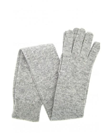 Guanto in 100% cashmere 16bt Grigio chiaro Sermoneta Gloves