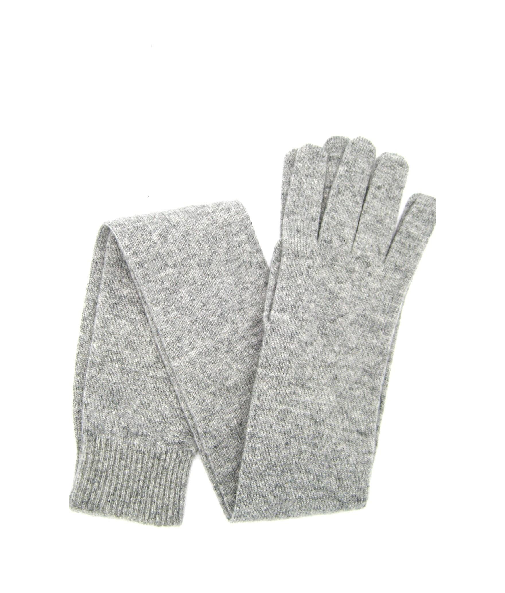 100%cashmere gloves 16bt Light Grey Sermoneta Gloves Leather