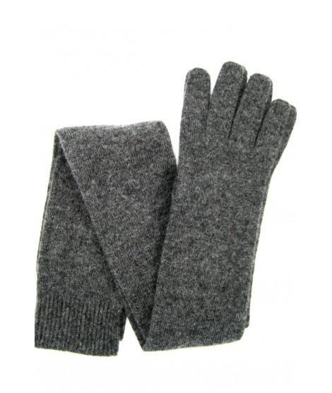 Guanto in 100% cashmere 16bt Grigio scuro Sermoneta Gloves