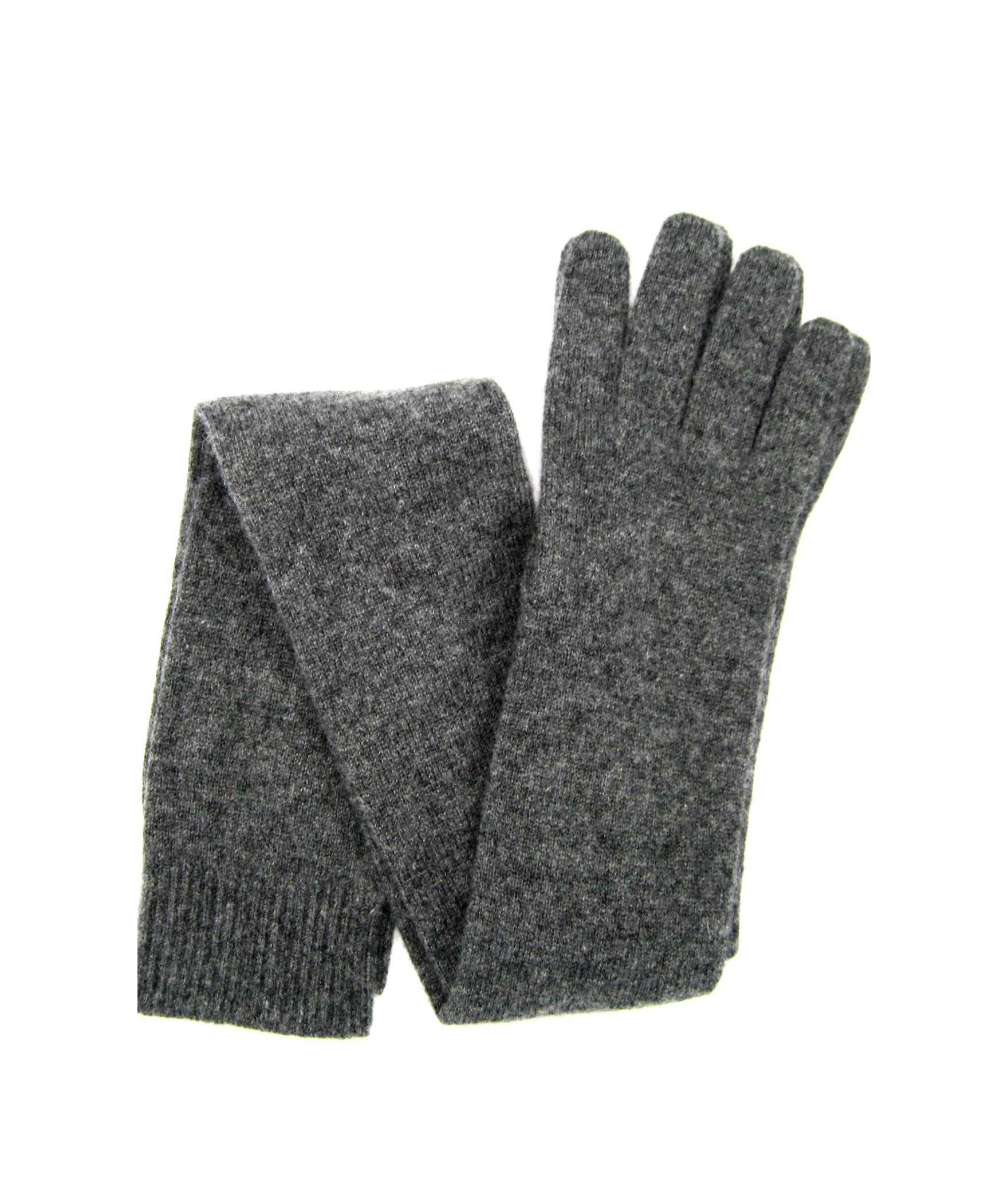 100%cashmere gloves 16bt Dark Grey Sermoneta Gloves Leather