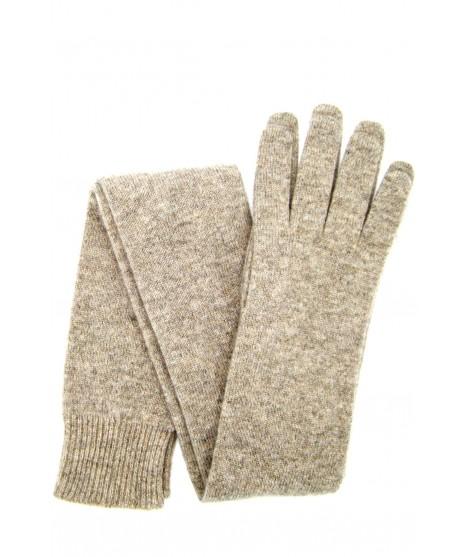 Guanto in 100% cashmere 16bt Beige/Taupe Sermoneta Gloves