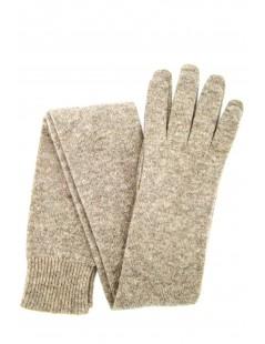 100%cashmere gloves 16bt Beige/Taupe Sermoneta Gloves Leather