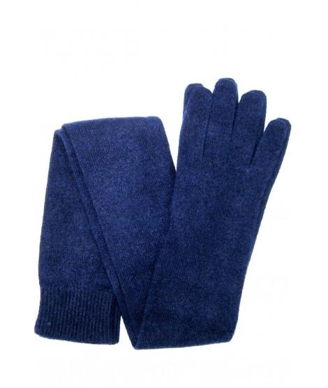Guanto in 100% cashmere 16bt Blu/Navy Sermoneta Gloves Guanti