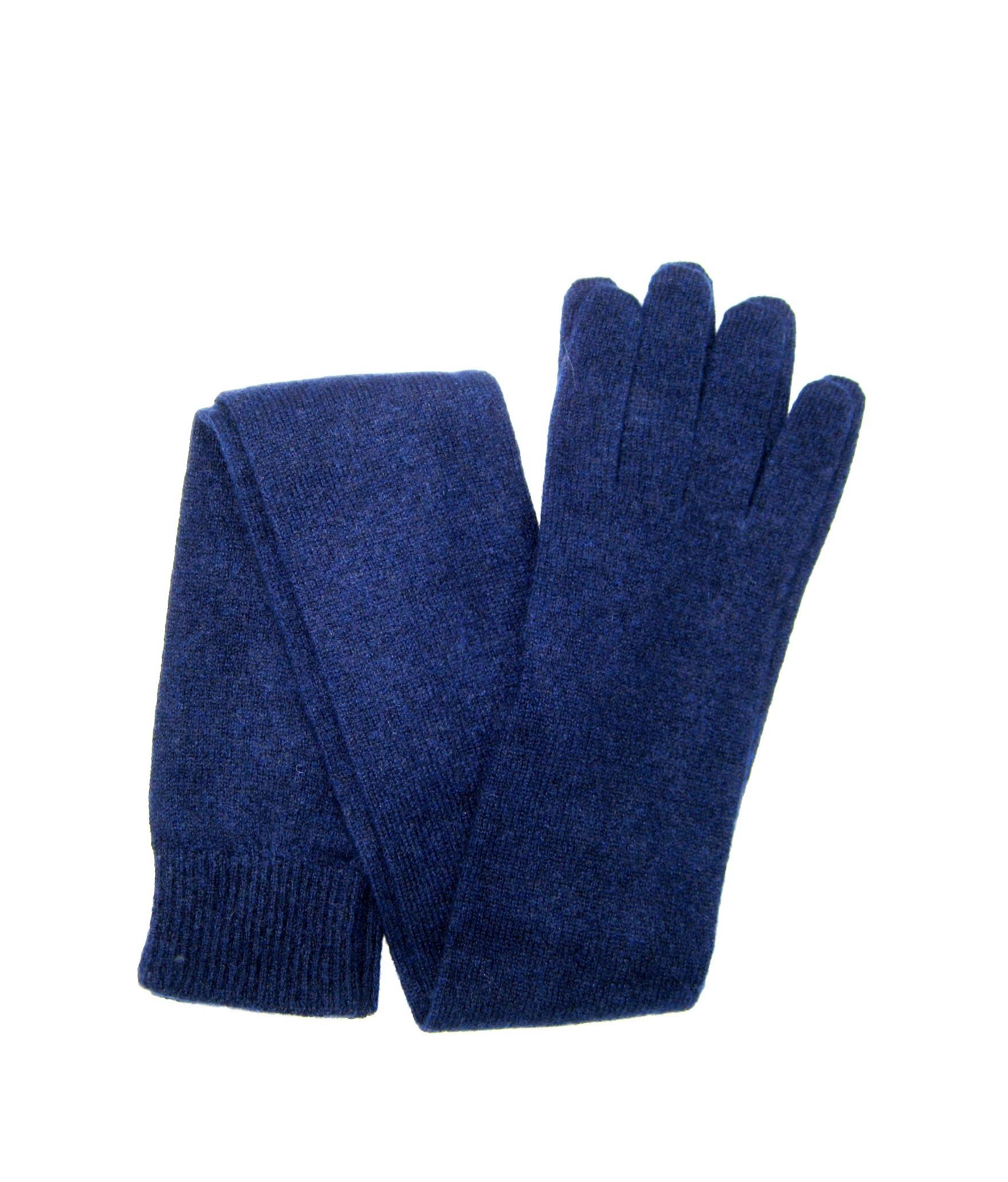 100%cashmere gloves 16bt Blue/Navy Sermoneta Gloves Leather