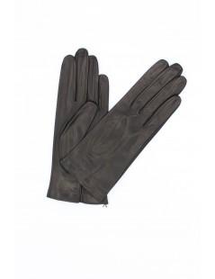Nappa leather gloves Silk lined Black Sermoneta Gloves Leather