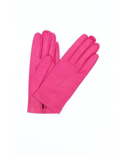 Nappa leather gloves Silk lined Fuchsia Sermoneta Gloves
