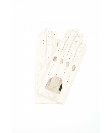 Driving gloves in Nappa Leather Cream Sermoneta Gloves Leather