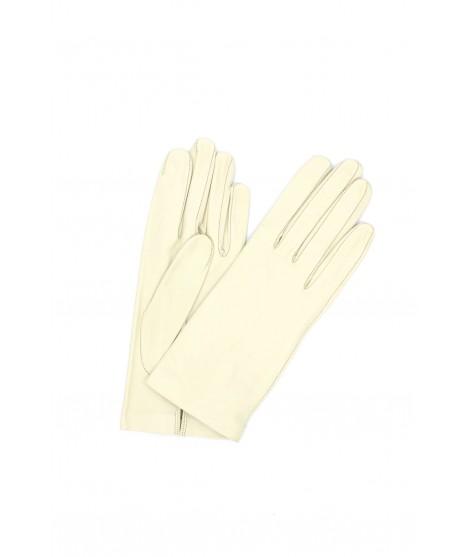 Nappa leather gloves Silk lined Cream Sermoneta Gloves Leather