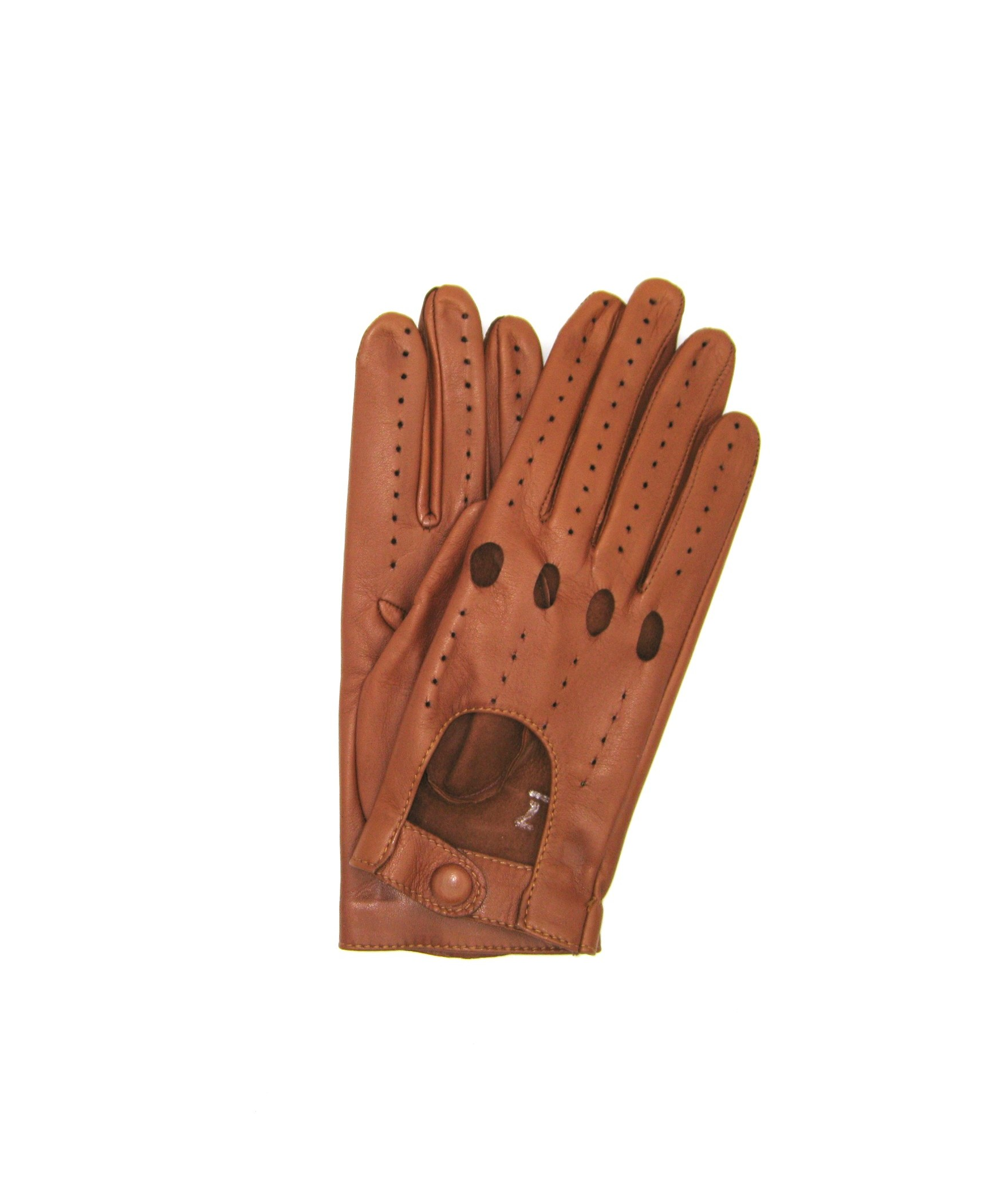 Driving gloves in Nappa Leather Tan Sermoneta Gloves Leather