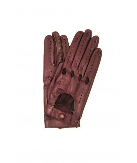 Driving gloves in Nappa Leather Bordeaux Sermoneta Gloves