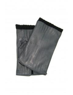 Half Mitten in Nappa leather cashmere lined Grey Sermoneta