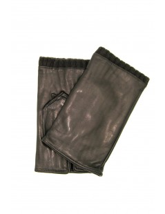Half Mitten in Nappa leather cashmere lined Dark Brown