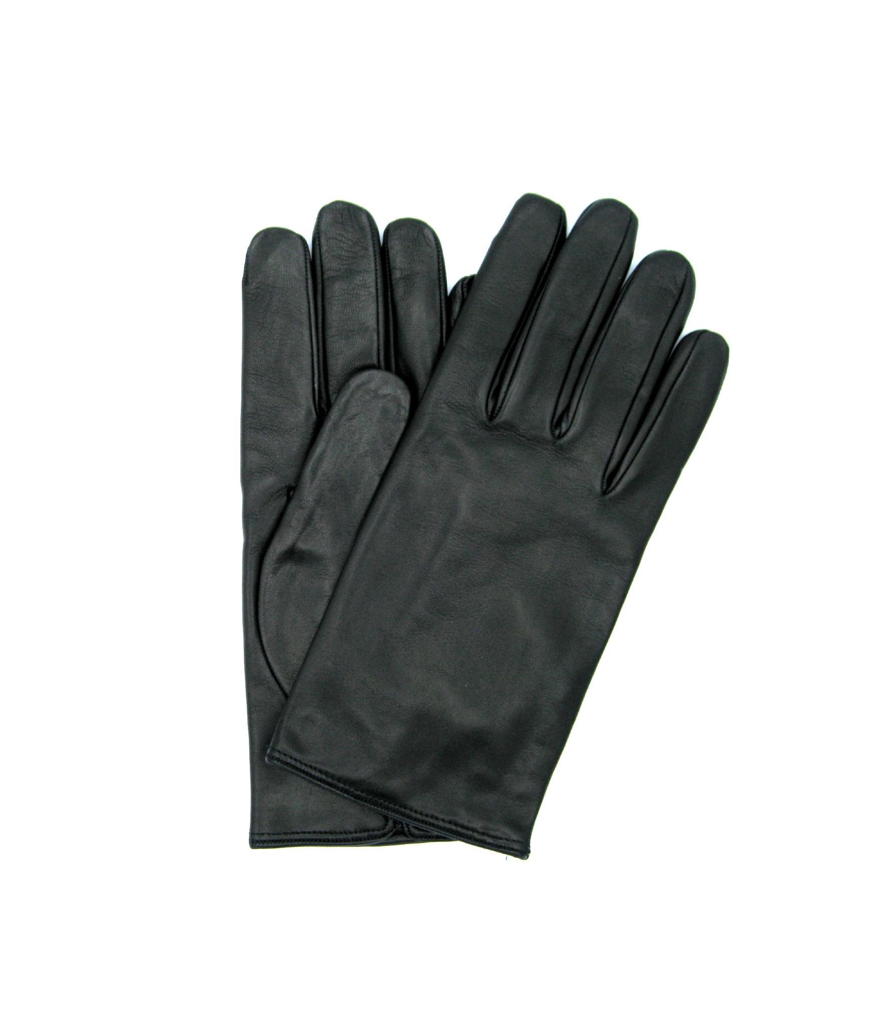 Guanto in Nappa Liscio foderato cashmere Nero Sermoneta Gloves