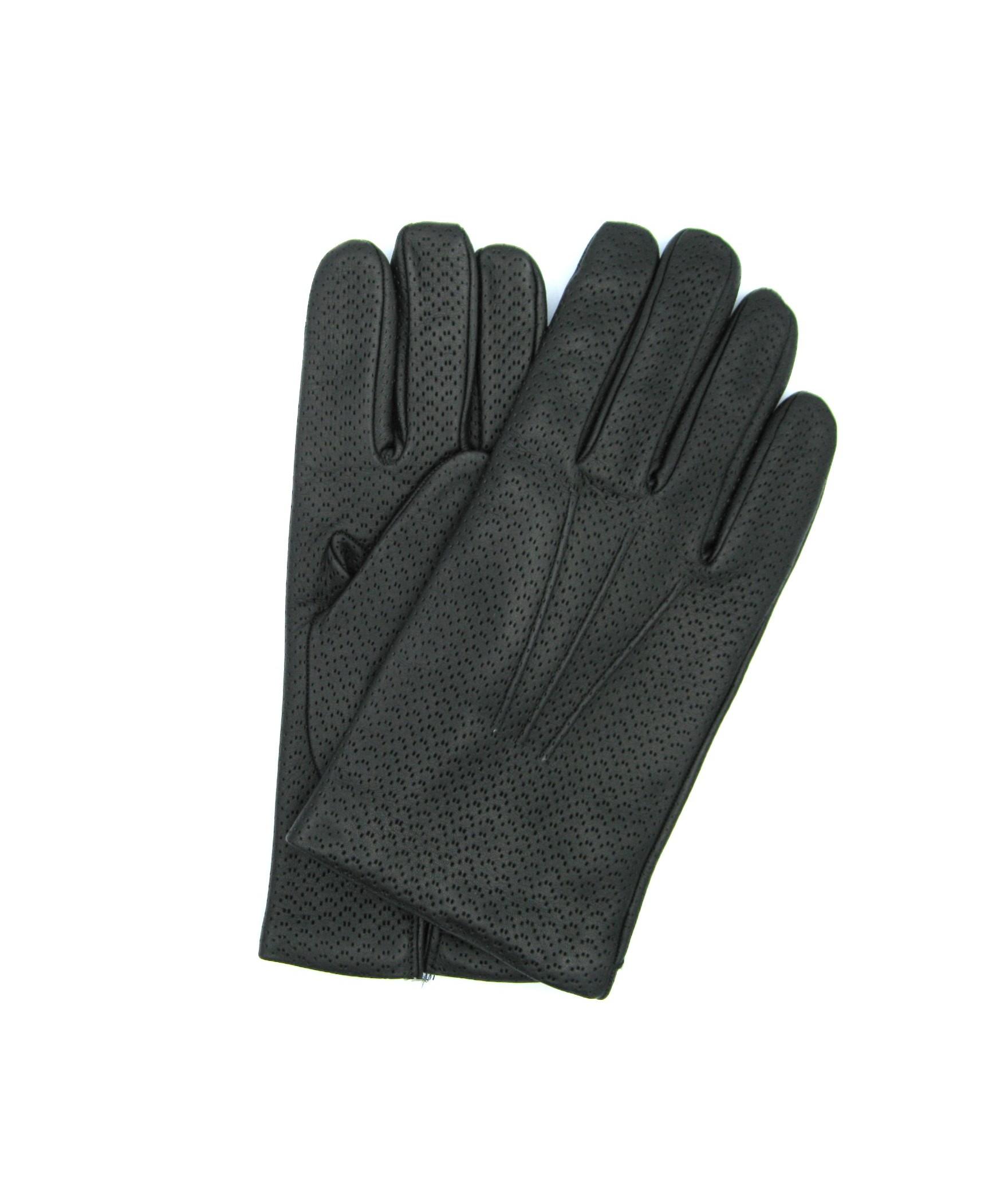 Nappa leather gloves 2bt,cashmere lined Dark Brown Sermoneta