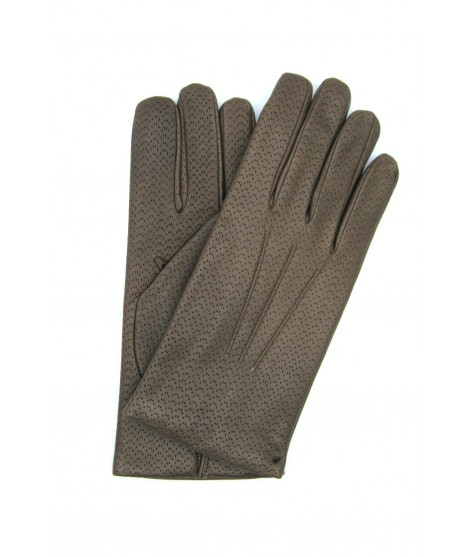 Nappa leather gloves 2bt,cashmere lined Mink Sermoneta Gloves