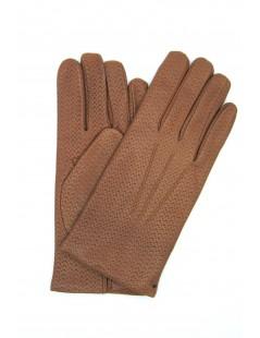 Nappa leather gloves 2bt,cashmere lined Tan Sermoneta Gloves