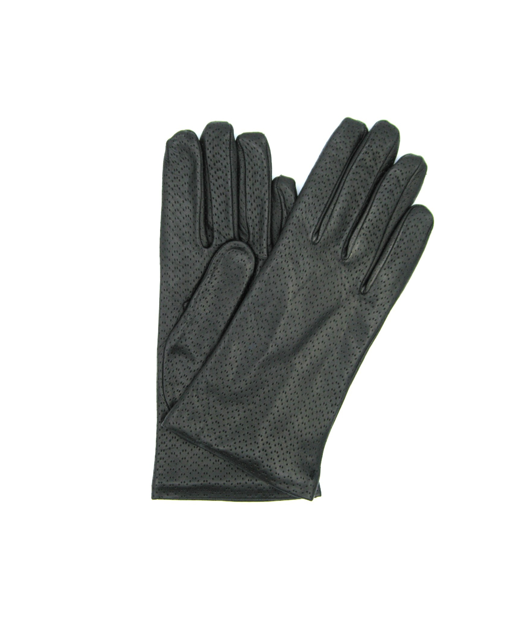 Nappa leather gloves 2bt,cashmere lined Black Sermoneta Gloves