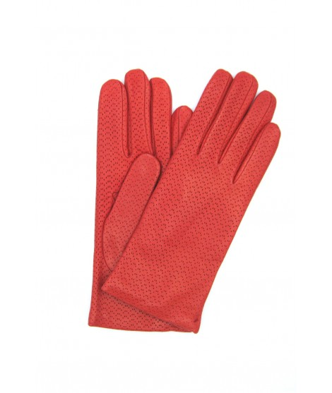 Guanto Nappa 2bt foderato cashmere Rosso Sermoneta Gloves