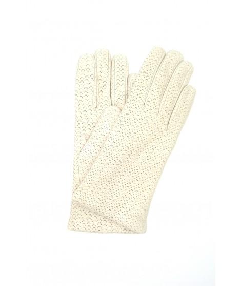 Guanto Nappa 2bt foderato cashmere Panna Sermoneta Gloves