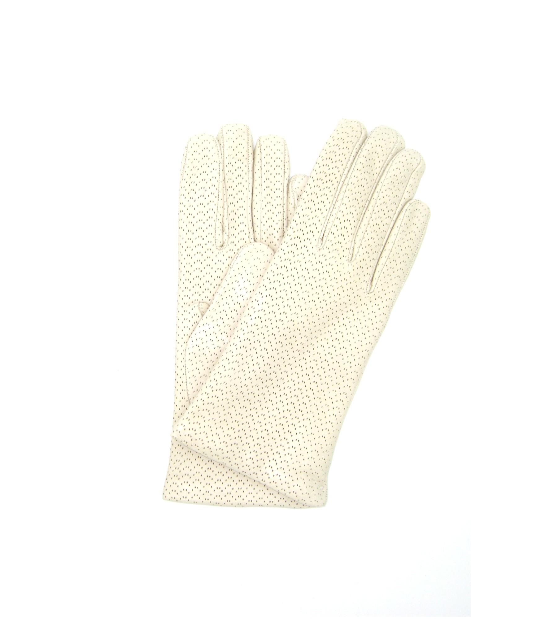 Nappa leather gloves 2bt,cashmere lined Cream Sermoneta Gloves