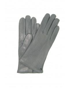 Nappa leather gloves 2bt,cashmere lined MD Grey Sermoneta