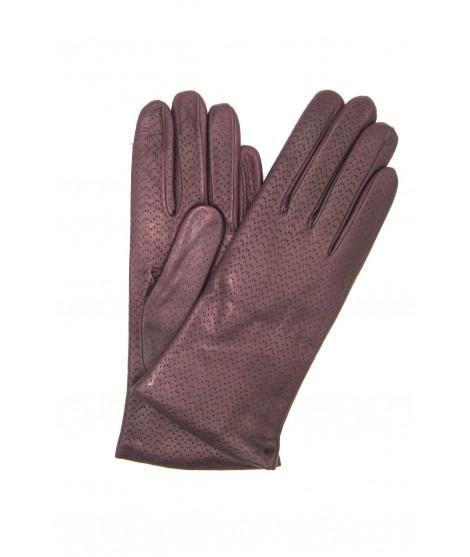 Guanto Nappa 2bt foderato cashmere Viola Sermoneta Gloves