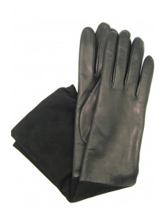 Gloves in Nappa and Suede Nappa 8bt cashmere lined Black