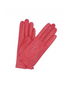 Nappa leather gloves Silk lined Red Sermoneta Gloves Leather