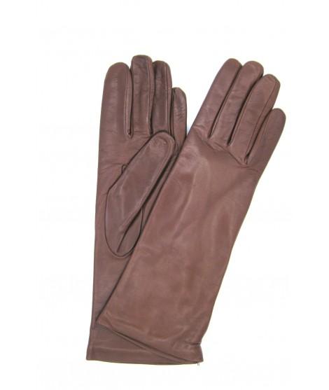 Nappa leather gloves 4bt cashmere lined Cognac Sermoneta Gloves