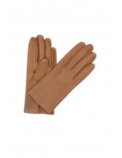 Nappa leather gloves Silk lined Tan Sermoneta Gloves Leather