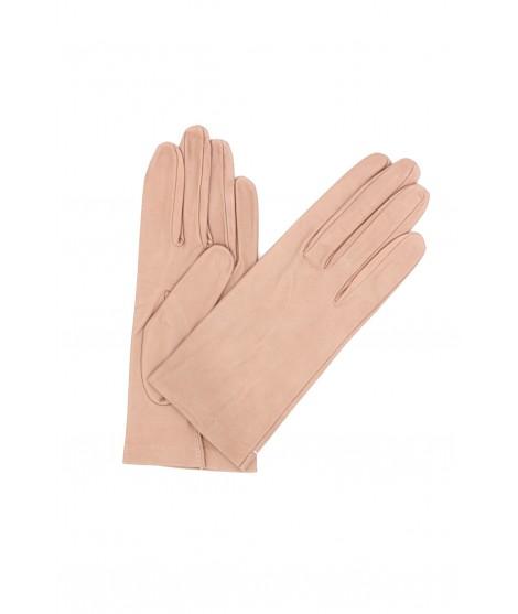 Nappa leather gloves Silk lined Nude Sermoneta Gloves Leather