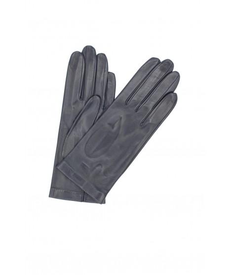 Nappa leather gloves Silk lined Navy Sermoneta Gloves Leather