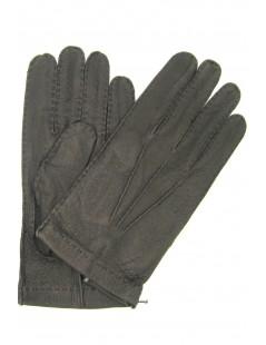 Guanto in Peccary sfoderato cucito a mano Nero Sermoneta Gloves