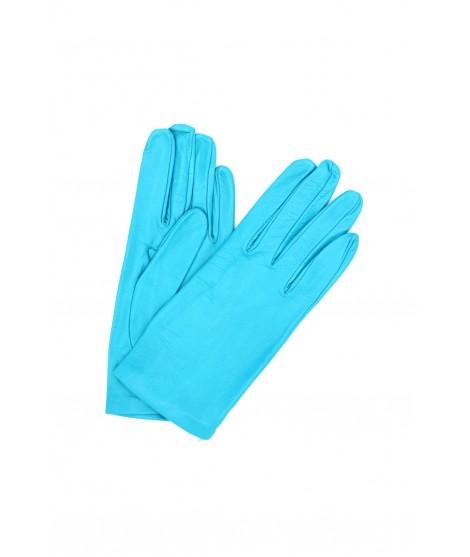 Nappa leather gloves Silk lined Turquoise Sermoneta Gloves