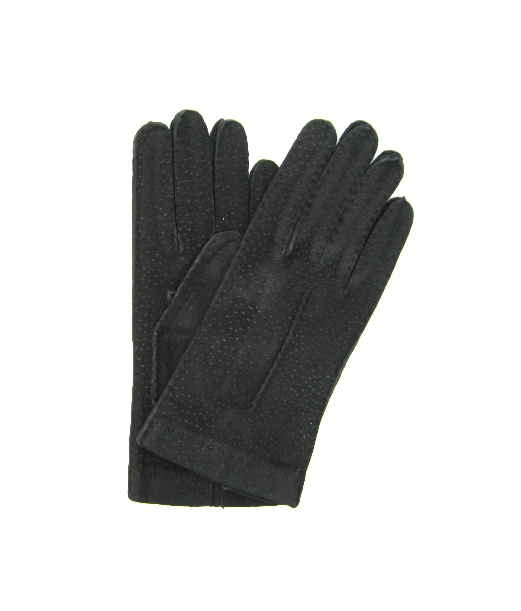 Unlined Carpincho leather gloves, Hand Stitching Black