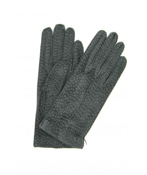 Unlined Carpincho leather gloves, Hand Stitching Grey Sermoneta