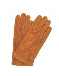 Guanto in Carpincho senza fodera Tabacco Sermoneta Gloves
