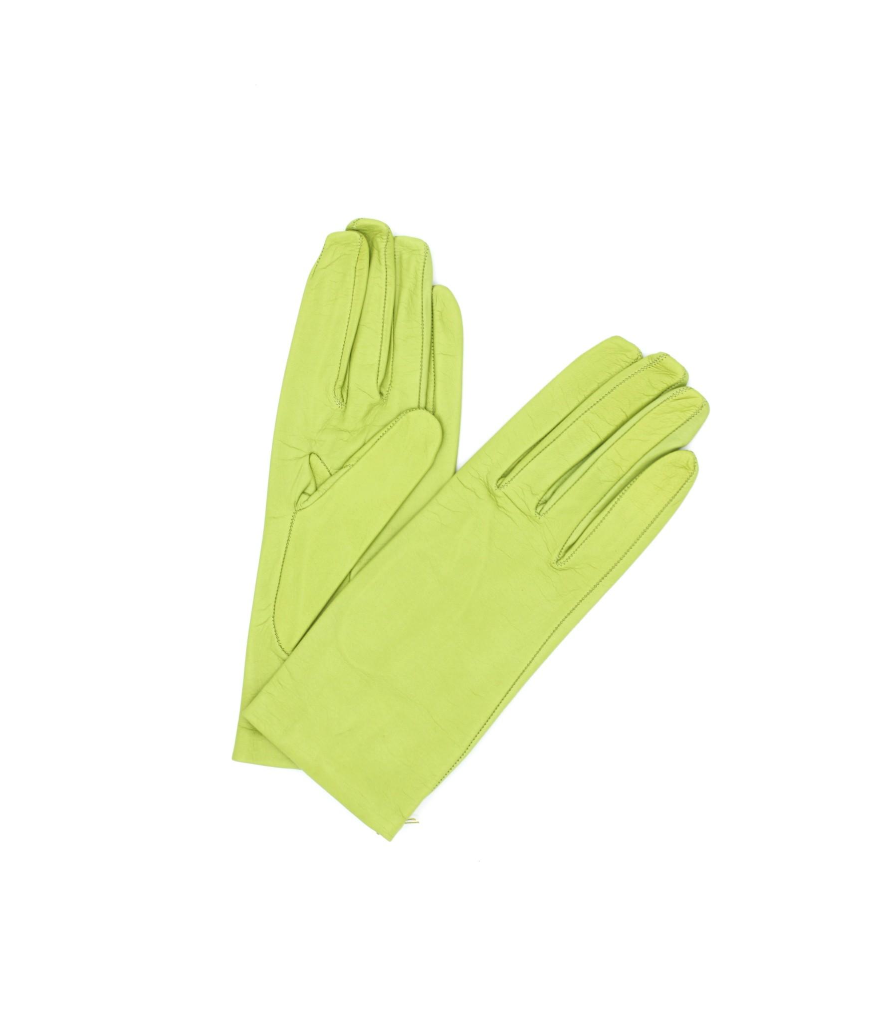 Nappa leather gloves Silk lined Pistachio Sermoneta Gloves