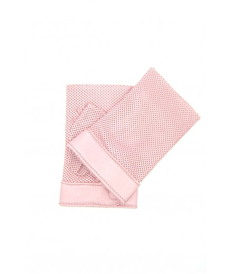 Gloves in perforated Nappa unlined fingerless Pink Sermoneta