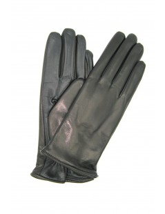 Touch Screen Nappa leather gloves, cashmere lined Black