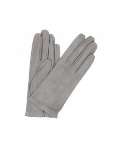 Nappa leather gloves Silk lined MD Grey Sermoneta Gloves