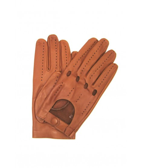 Guanto nappa guida dita intere Tan Sermoneta Gloves Guanti in