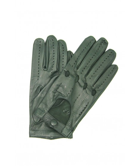 Driving gloves of Nappa leather Olive Green Sermoneta Gloves