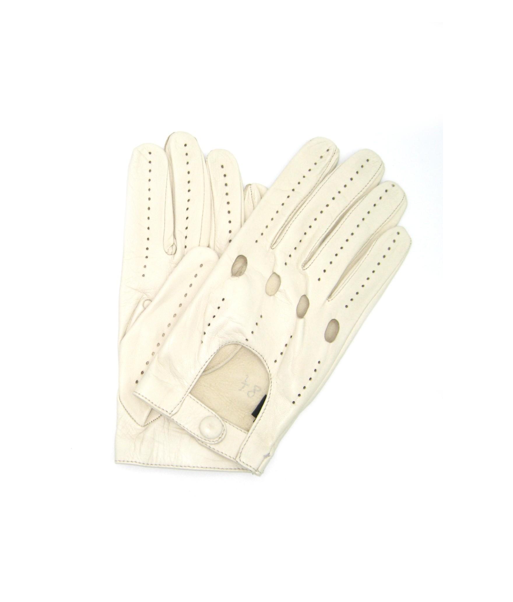 Driving gloves of Nappa leather Cream Sermoneta Gloves Leather