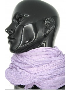 Ladies Stole in Modal and Silk Lilac Sermoneta Gloves Leather