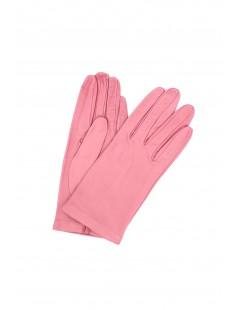 Nappa leather gloves Silk lined Bubble gum Sermoneta Gloves