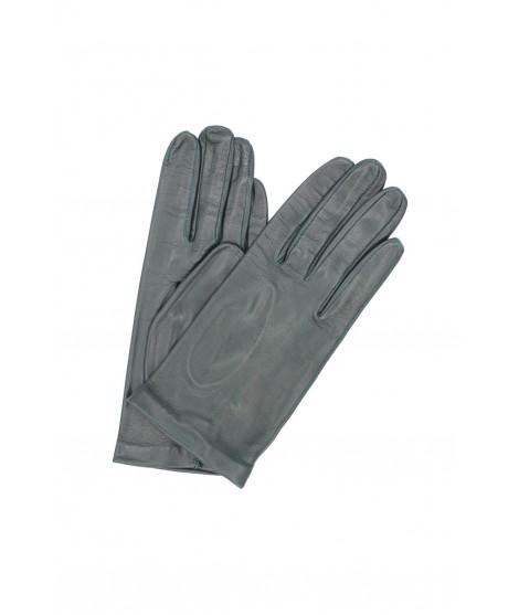Glove Nappa lined Silk Dark Green Sermoneta Gloves Leather