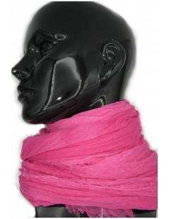 Ladies Stole in Modal and Silk Fucsia Sermoneta Gloves Leather